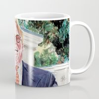 "the big lebowski Mugs featuring The Big Lebowski ""Brandt"" by Gregory Nordquist"