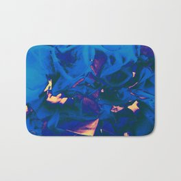Abstract Floral Bath Mat