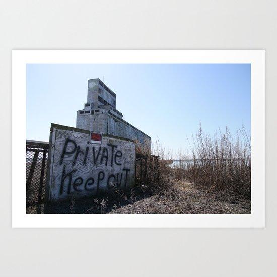 Keep Out Art Print