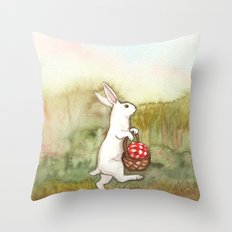 On the Way to the Picnic Throw Pillow