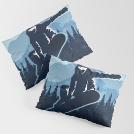 Royal Skiing - Attitude - Ski Snowboard Fly Skyline Pillow Sham