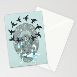empty head. Stationery Cards