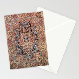 Persia Carpet 19th Century Authentic Colorful Black Blue Red Vintage Patterns Stationery Cards