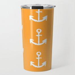 Anchors - Orange Travel Mug
