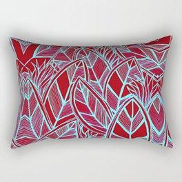 Modern Tropical Leaves Print Rectangular Pillow