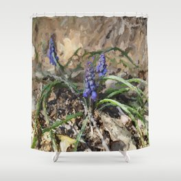 Happy Hyacinth Shower Curtain