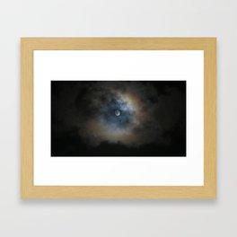 Misty night Framed Art Print