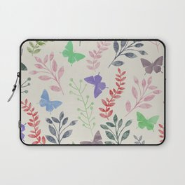 Watercolor flowers & butterflies Laptop Sleeve