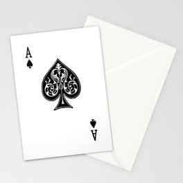 Ace Spades Spade Playing Card Game Minimalist Design Stationery Cards
