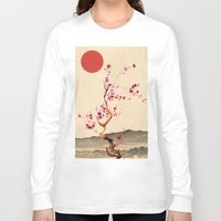 sakura Long Sleeve T-shirts featuring Sakura by Ned & Ems