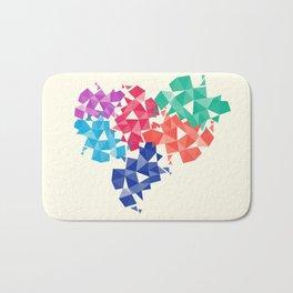 Background of geometric shapes. Colorful mosaic pattern Bath Mat