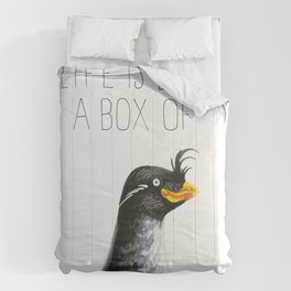 Life Is Like A Box Of Auklets (Crested Auklet) Comforters