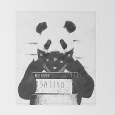 Bad panda Throw Blanket