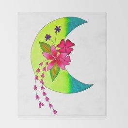 moon art 9 Throw Blanket