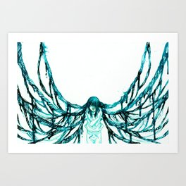 Caught in the spider's web Art Print