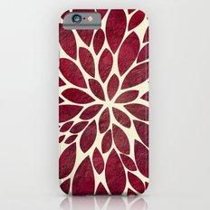 Petal Burst - Maroon Slim Case iPhone 6