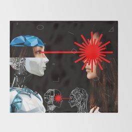 Laser Bot by GEN Z Throw Blanket