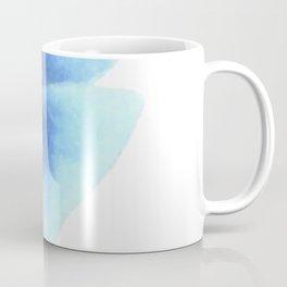 Minimalist flower, Blue pansy Coffee Mug