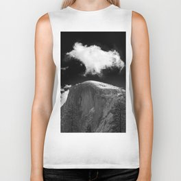 Half Dome Looms on a Cold Spring Day and a Cloud Grows on the Updraft Biker Tank