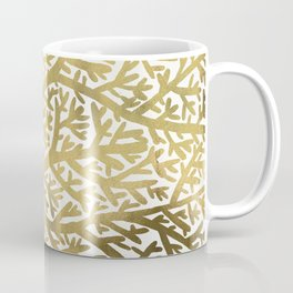 Gold Fan Coral Coffee Mug