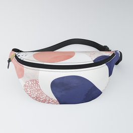 Terrazzo galaxy pink blue white Fanny Pack