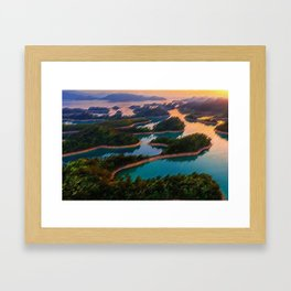 Quinn Dao Lake, China at Sunrise Framed Art Print