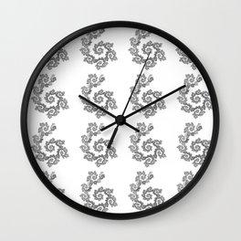Dancing flowers in black Wall Clock
