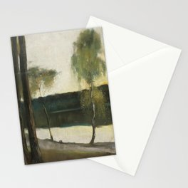 Lesser Ury 1861-1931 lake SCENE Stationery Cards
