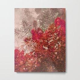 Decorative Flowers Collage  Metal Print