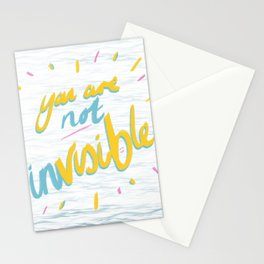 Your Are Not Invisible Stationery Cards