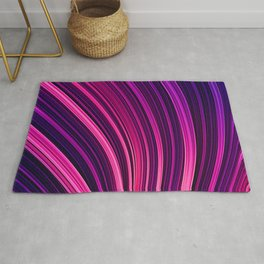 Pink and Purple Burst Wave. Abstract Strands Rug