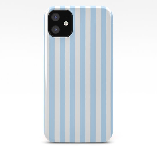 Classic Seersucker Stripes in Blue + White by elliottdesignfactory