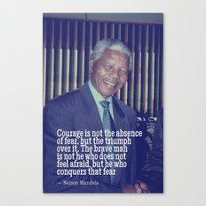Inspirational Quotes - Motivational - 113 Nelson Mandela Canvas Print