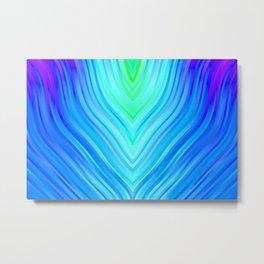 stripes wave pattern 3 s180i Metal Print