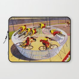 Vintage Bicycle Circus Act Laptop Sleeve
