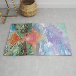 abstract watercolor background Rug