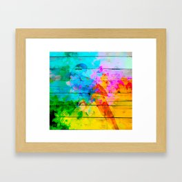Shadow of a parrot on a hot day Framed Art Print