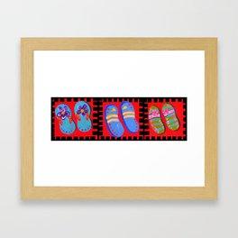 Flip Flops Times Three Framed Art Print