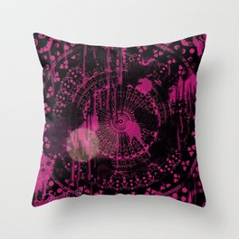 Neon Pink Splatter Throw Pillow