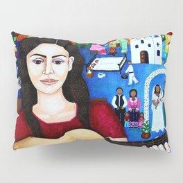 Violeta Parra and her guitar Pillow Sham