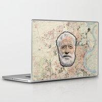 hemingway Laptop & iPad Skins featuring Ernest Hemingway by steam