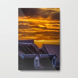 Sky Burning Metal Print