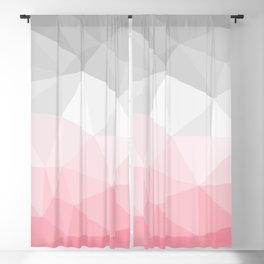 pink and grey polygon 2018 Blackout Curtain