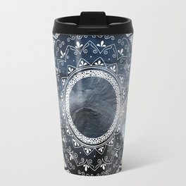 Precious white mandala on sky Travel Mug