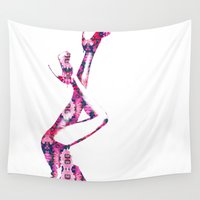 heels Wall Tapestries featuring Heels by fashionistheonlycure
