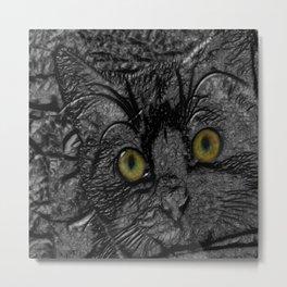 Metal cat Metal Print