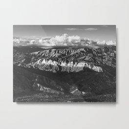 White Stripe Mountain Metal Print
