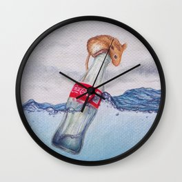 Red, White & Blue by Lars Furtwaengler | Colored Pencil | 2017 Wall Clock