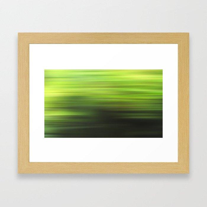 green 17 Framed Art Print