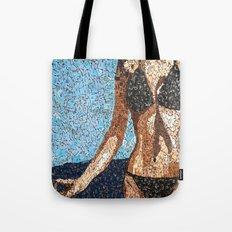 Summer Scarbble - Vintage Scrabble Tile Mosaic Tote Bag